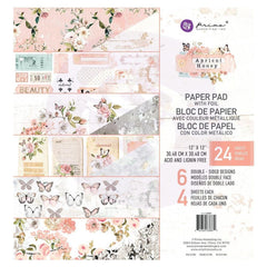 Prima Marketing Double-Sided Paper Pad 12X12in - Apricot Honey