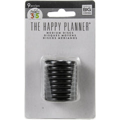 Me & My Big Ideas Happy Planner Discs 1.25 inch 9 pack - Black