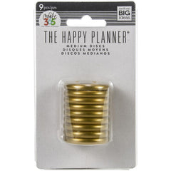 Me & My Big Ideas Happy Planner Discs 1.25 inch 9 pack - Gold