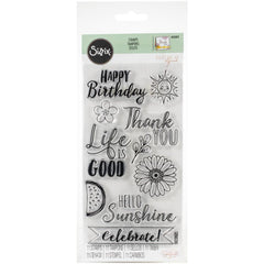 Sizzix - Clear Stamps By Katelyn Lizardi - Hello Sunshine