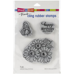 Stampendous - Cling Stamp Birthday Daisy - 4.5x5.5 inch