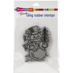 Stampendous - Cling Stamp Snowman Smile - 4.5x5.5 inch