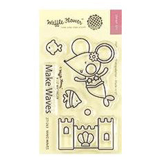 Waffle Flower - Crafts Clear Stamps 2 inch X3 inch - Make Waves