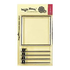 Waffle Flower - Crafts Clear Stamps 2 inch X3 inch - Combo Swatch