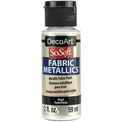 SoSoft Fabric Acrylic Metallic Paint 2oz - Pearl
