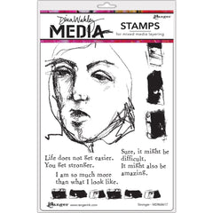 """Dina Wakley Media Cling Stamps 6/""""X9/"""" I Want 789541066248"""