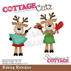 CottageCutz Dies - Baking Reindeer, 1.5 inch To 2.7 inch