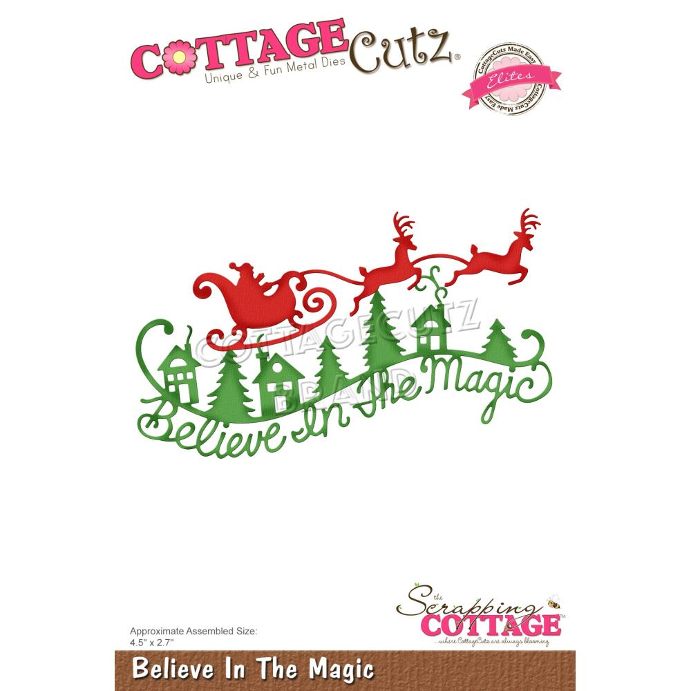 CottageCutz Dies - Believe In The Magic, 4.5 inch X2.7 inch