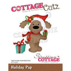 CottageCutz Dies - Holiday Pup, 2.3 inch X2.6 inch