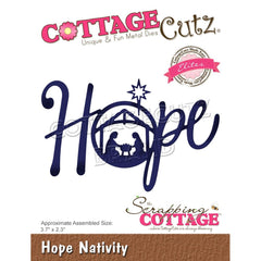 CottageCutz Dies - Hope Nativity, 3.7 inch X2.3 inch