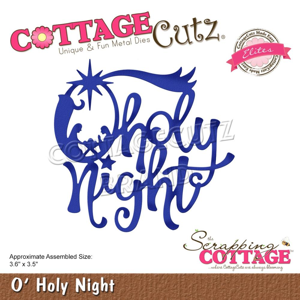 CottageCutz Dies - O'holy Night, 3.6 inch X3.5 inch