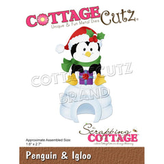 CottageCutz Dies - Penguin & Igloo, 1.6 inch X2.7 inch