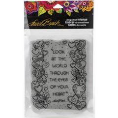 Stampendous Laurel Burch Cling Stamp - Heart View