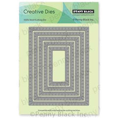 Penny Black Creative Dies - Stitched Loops 5.25 inchX4 inch