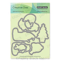 Penny Black Creative Dies - Cozy Critters Cut Out 5.9 inchX5 inch
