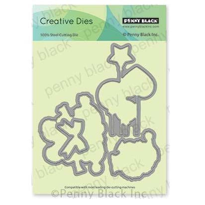 Penny Black Creative Dies - Togetherness Cut Out 5.6 inchX5 inch