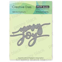 Penny Black Creative Dies - Merry & Joy 4.7 inchX2.4 inch