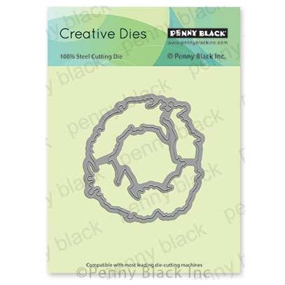 Penny Black Creative Dies - Golden Delight Cut Out 3 inchX3.2 inch
