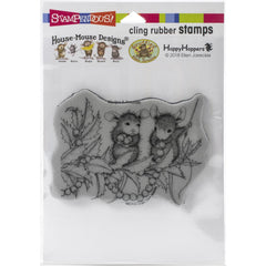 Stampendous House Mouse Cling Stamp - Stringing Berries