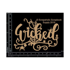 Scrapaholics - Laser Cut Chipboard 1.8mm Thick Wicked, 4.75 inch X3.5 inch