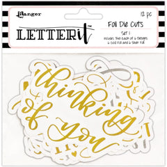 Ranger Letter It Foiled Sentiments Die-Cuts Set 1