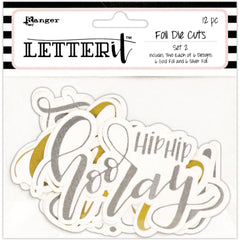 Ranger Letter It Foiled Sentiments Die-Cuts Set 2