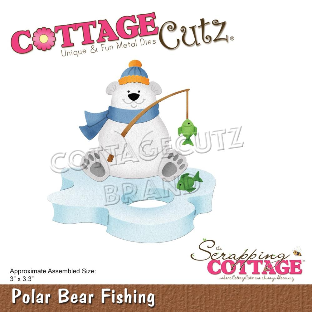 CottageCutz Dies - Polar Bear Fishing, 3in x 3.3in