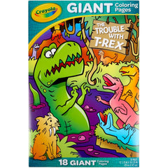 Crayola Giant Colouring Pages 12.75in x 19.5in - T-Rex Troubles