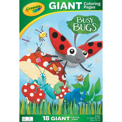 Crayola Giant Colouring Pages 12.75in x 19.5in - Busy Bugs