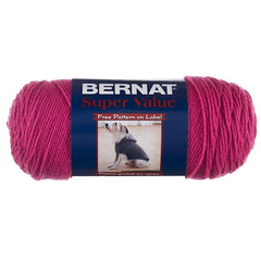 Bernat Super Value Solid Yarn - Magenta - 7oz (197g) 426yd