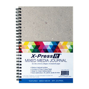 X-Press It - Mixed Media Journal A5 300gsm - 15 sheets