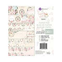 Prima Double-Sided Paper Pad 6in x 6in 30 pack  - Sugar Cookie By Frank Garcia