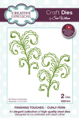 Creative Expressions Craft Dies By Sue Wilson - Curly Fern