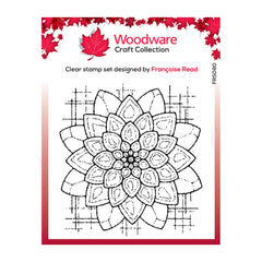 Creative Expressions Woodware Craft Collection Clear Acrylic Stamps 4in x 4in - Blossom