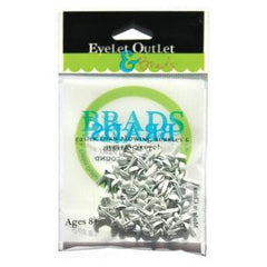 Eyelet Outlet Round Brads 4mm 70 pack - White