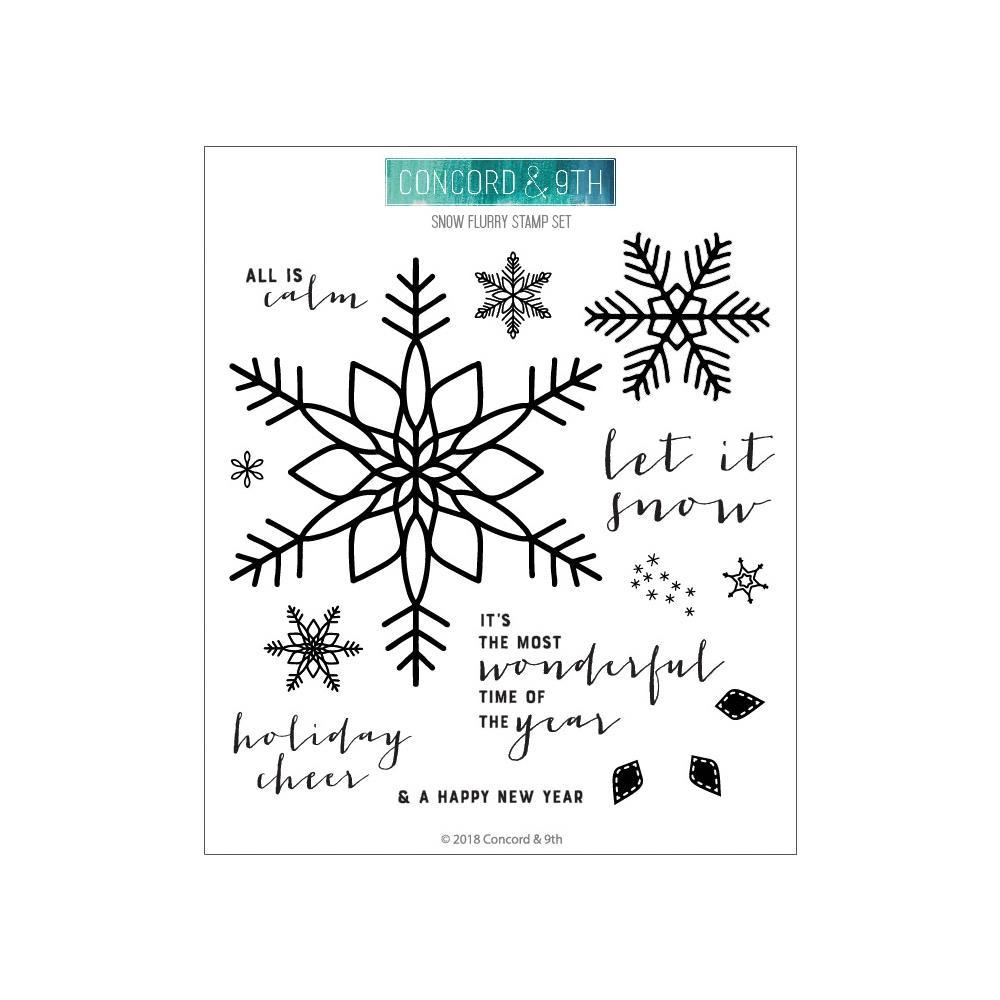 Concord & 9th Clear Stamps 6inch X6inch - Snow Flurry