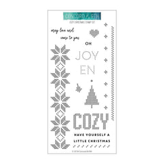 Concord & 9th Clear Stamps 4inch X8inch - Cozy Christmas