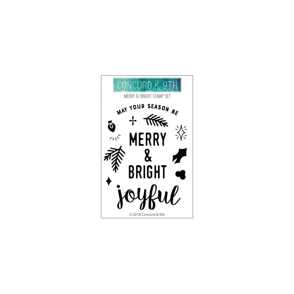 Concord & 9th Clear Stamps 3inch X4inch - Merry & Bright