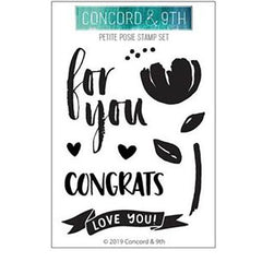 Concord & 9th Clear Stamps 3 inch X4 inch - Petite Posie