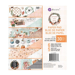 Prima Marketing Double-Sided Paper Pad 6in x 6in 30 pack - Pumpkin & Spice