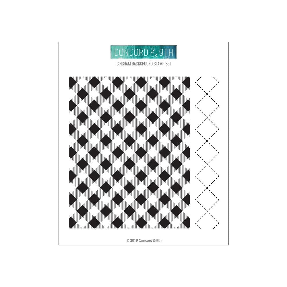Concord & 9th Clear Stamps 6 inch X6 inch - Gingham Background