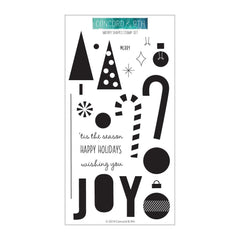 Concord & 9th Clear Stamps 4 inchX8 inch - Merry Shapes