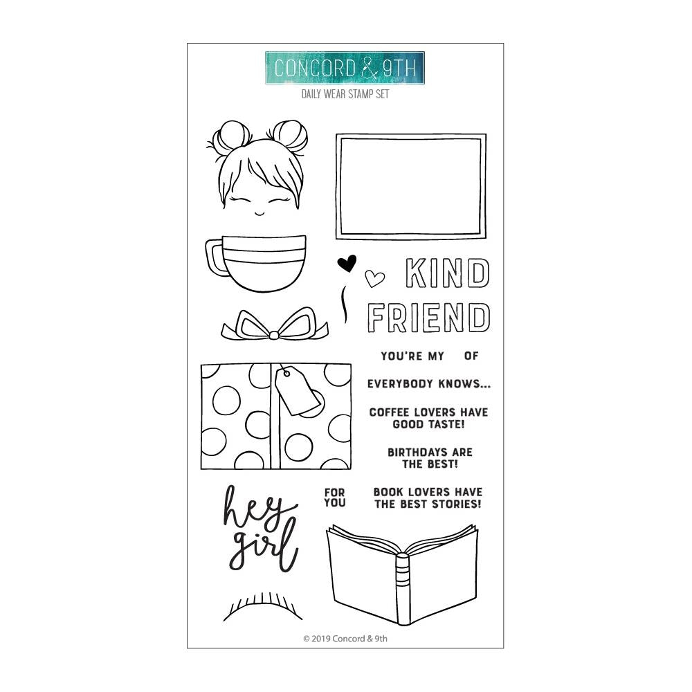 Concord & 9th Clear Stamps 4in X 8in - Daily Wear