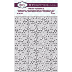 "Creative Expressions 3D Embossing Folder 5.75""X7.5"" - Diamond Poinsettias"