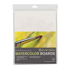 Crescent - Watercolour Board 3 pack 8 inch X10 inch - White