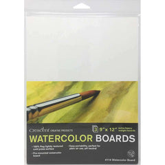 Crescent - Watercolour Board 3 pack 9 inch X12 inch - White