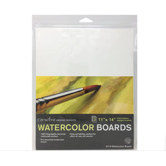 Crescent - Watercolour Board 3 pack 11 inch X14 inch - White