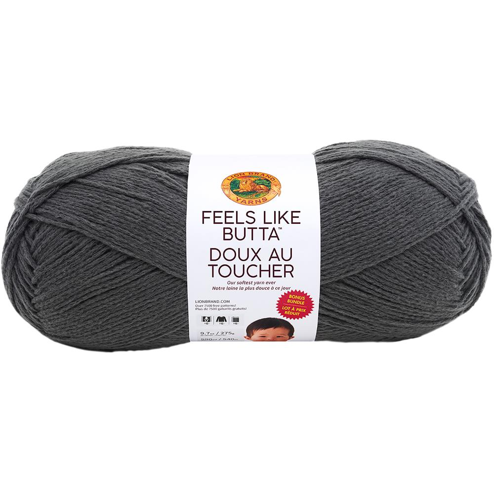Lion Brand - Feels Like Butta Bonus Bundle Yarn - Charcoal 275g