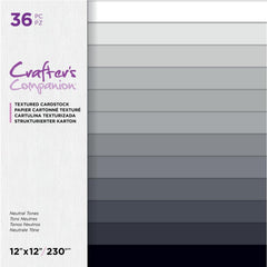 Crafter's Companion Single-Sided Paper Pad 12in x 12in  36 pack - Neutral Tones