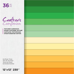 Crafter's Companion Single-Sided Paper Pad 12in x 12in  36 pack - Sunflower Tones